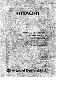 Service Manual Hitachi VC-6025
