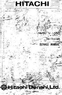 Service Manual Hitachi C-1050