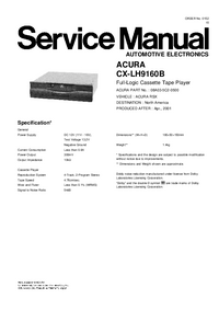 Service Manual Honda CX-LH9160B