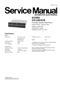Service Manual Honda CX-LH9161B