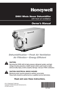 Manuale d'uso Honeywell DH90