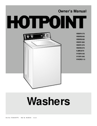 User Manual Hotpoint VWSR3110