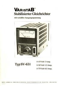 Instrukcja serwisowa Hotz_Gerber SV-631