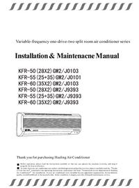 Servicio y Manual del usuario Hualing KFR-50