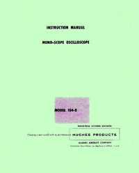 Service and User Manual Huges 104-D
