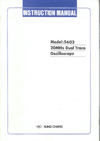 Service and User Manual HungChang 5602