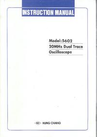 Servicio y Manual del usuario HungChang 5602