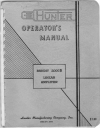 Manuale d'uso Hunter Bandit 2000B