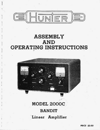 Servicio y Manual del usuario Hunter Bandit 2000C