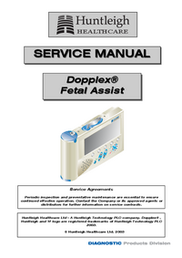 Manual de serviço Huntleigh Dopplex®
