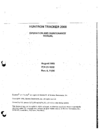 Service and User Manual Huntron 2000