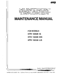 Servicio y Manual del usuario Huntron HTR 1005B-1ES