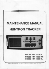 Manual de servicio Huntron HTR 1005 BJ