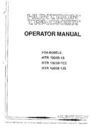Manual del usuario Huntron HTR 1005B