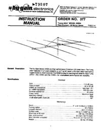 User Manual Hygain Long John MODEL 205BA