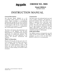 Instrukcja obsługi Hygain 2BDQ-S