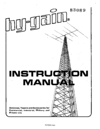 Manual del usuario Hygain TH7DX