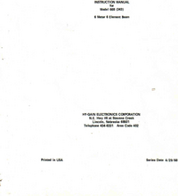 Manual do Usuário Hygain 66B