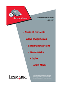 Service Manual Lexmark 4039-10 plus