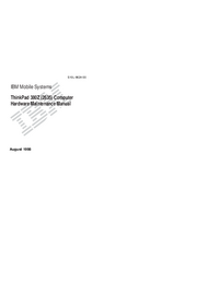 Serviceanleitung IBM ThinkPad 380Z (2635)