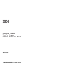 Manual de servicio IBM ThinkPad R40