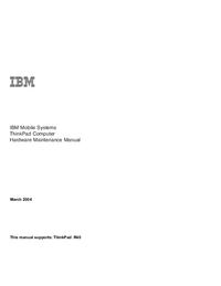 Manuale di servizio IBM ThinkPad R40