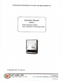 Service and User Manual IET 1616