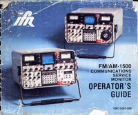 User Manual IFR FM/AM-1500