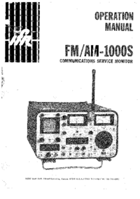 Manual del usuario IFR FM/AM-1000S