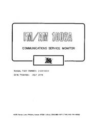 Serviceanleitung IFR FM/AM-1000A