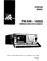 Manual del usuario IFR FM/AM-1600S