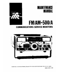 Service Manual IFR FM/AM-500A
