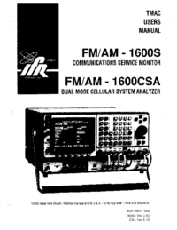 Manual del usuario IFR FM/AM-1 600S