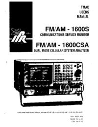 Manual do Usuário IFR FM/AM-1 600S