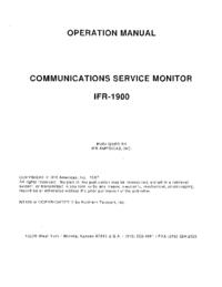 Manual do Usuário IFR 1900