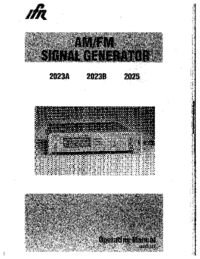 Manual del usuario IFR 2023A