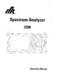 Manual do Usuário IFR 2398