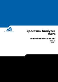 manuel de réparation IFR 2398