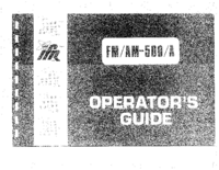 User Manual IFR FM/AM-500