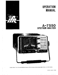 Manuale d'uso IFR A-7550