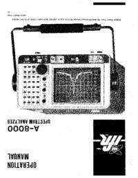 Bedienungsanleitung IFR A-8000