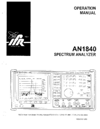 User Manual IFR AN 1840