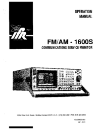Manual del usuario IFR FM/AM -1600S