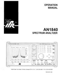 Instrukcja obsługi IFR AN1840