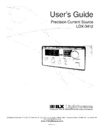 Manuale d'uso ILX LDX-3412