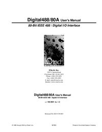 User Manual IOTech Digital488/80A