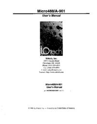 Manuel de l'utilisateur IOTech Micro488/A-901