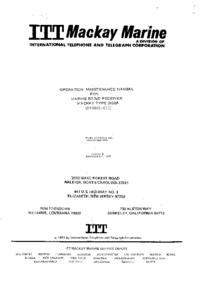 Service- und Bedienungsanleitung ITT Mackay Type 3020A