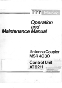 Service Manual ITT MSR 4030