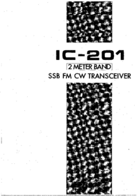 Bedienungsanleitung Icom IC-201